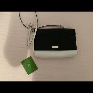 Handbags - Black and white color block Kate spade cross body